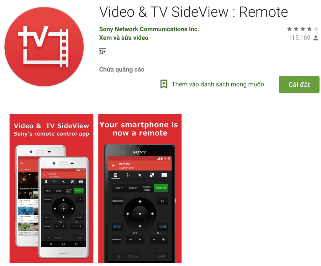 Sony video & TV SideVideo