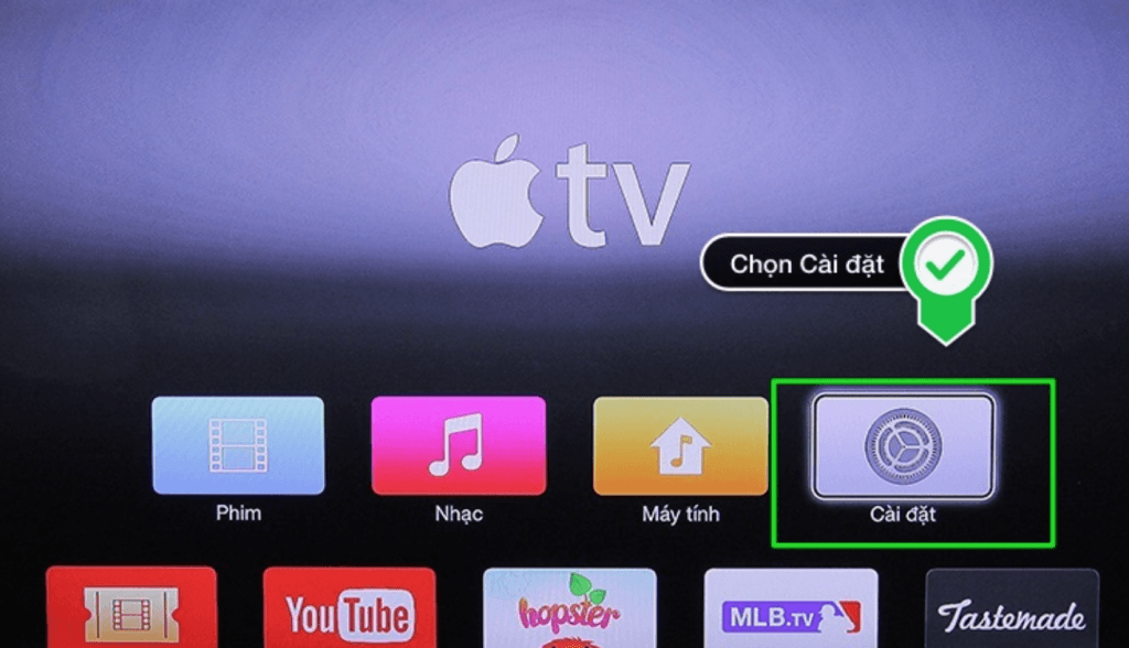 cai dat trong apple tv