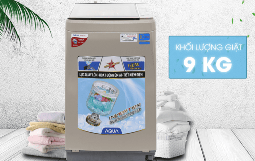 may giat Aqua Inverter 9 kg AQW-D901BTN